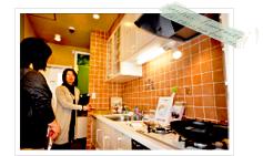 キッチンのご案内している写真